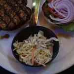 Teriyaki grilled chicken sandwich w/coleslaw