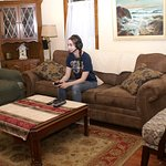 Lower lounge -Guest playing x-box