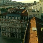 from the roof you can see Elevador de Santa Justa
