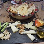 Selection of Sardinian cheeses