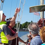 Travelers encouraged to help raise the sails!
