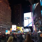 Times Square- outside the hotel