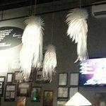Feather lights at La V