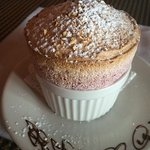 Cherry Alomnd Dessert Souffle. Perfection.