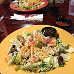 Southwestern Salad with Shrimp. Delicious!