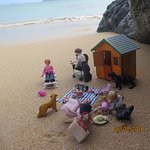 Kim's Collectables dolls house miniatures at Harlyn Bay beach