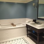 2nd bathroom of Oceanfront Suite with deep soaking tub