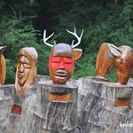Intriguing artwork celebrating the region's first nations.