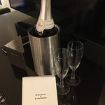 We were given a congratulatory bottle of wine for our anniversary and enjoyed it in the inviting