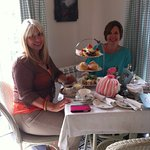 Friends enjoying a delicious afternoon tea
