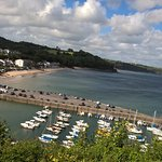 View of Saundersfoot from the hotel terrace