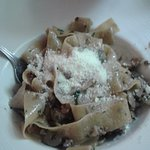 Pappardelle with Porcini sauce. Yum!