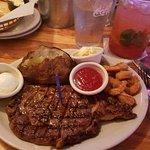 Rib Steak and shrimp
