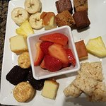 This is just one plate of dessert for the fondue