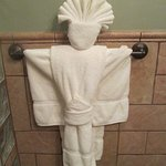 Mayan towel art