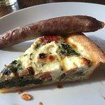Mediterranean quiche with local sausage