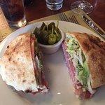 mortadella , basically a FINE Italian sandwich