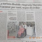 la giusta riconoscenza per l'accoglimento dei disabili