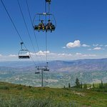 The chair lift up to Elk Camp Summit. Fantastic view!