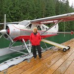 "Michelle and the beautiful seaplane ""Lady Esther"""