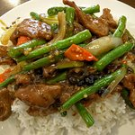 Long Bean Beef on Rice