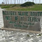 The long route the slaves walk to get on the ship. The reason the island is know as the point of