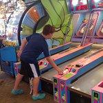 Boardwalk Arcade - Winning lots of tickets!!!