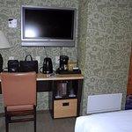 desk-TV-foot of bed