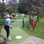 A nice mini golf experience.
