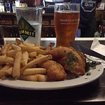 The fish and chips - yum!