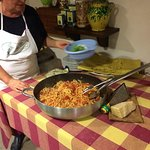 After taking our cooking class of Pici pasta - Paola cooked it for us ...delicious!!