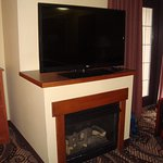 Nice fireplace/ TV