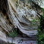 Hiking in Arroyo El Carbón slot canyon