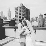 "Photographer: Bryan Sargent - Rooftop, where we had our ""first look"""