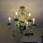 Chandelier in room 444 (complete with cobwebs)