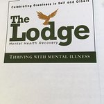 Front of pamphlet about the Lodge