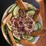 """""""Ensalada Griega"""" (Greek Salad) which was SUPER delicious"""