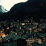 Zermatt night view photo point. Near cervo hotel
