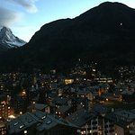 Zermatt night view photo point. Near cervo hotel