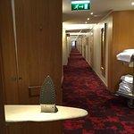 Strykjärnet i korridoren