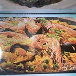 The picture of the Seafood Risotto in the menu! Spot the difference!