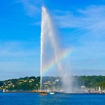 Visited beautiful Jet d' Eau and Lake Geneva while staying at La Cour des Augustins, Geneva.