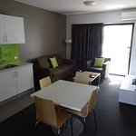 The main part of the apartment with kitchenette