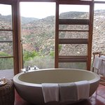 An awesome bath from which to soak up the views!
