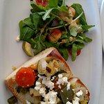 Veg open sandwich