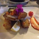 """il piatto """"meno"""" entusiasmante pesce spada su crostini di riso"""