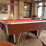 Pool table in bar area