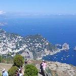 Veduta Capri e Faraglioni da Monte Solaro....