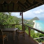Outdoor living with a view of Long Bay & Jost Van Dyke