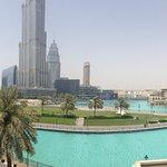 Vista do hotel para a Fonte, Burj Khalifa e Dubai Mall